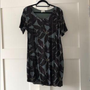Wilfred Free leave print Dress (Aritzia)